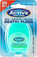 Düfte, Parfümerie und Kosmetik Gewachste Zahnseide mit Minzgeschmack und Fluorid 100 m - Beauty Formulas Active Oral Care Dental Floss Mint Waxed + Fluor 100m