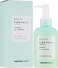 Düfte, Parfümerie und Kosmetik Gesichtsreinigungsschaum-Gel für empfindliche Haut - Thank You Farmer Back To Pure Foaming Gel Cleanser