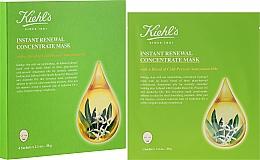 Düfte, Parfümerie und Kosmetik Tuchmaske für eine sanfte und strahlende Haut - Kiehl's Instant Renewal Concentrate Mask