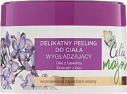 Düfte, Parfümerie und Kosmetik Glättendes Körperpeeling mit Baumwollsamenöl und Flieder-Extrakt - Celia Majowa