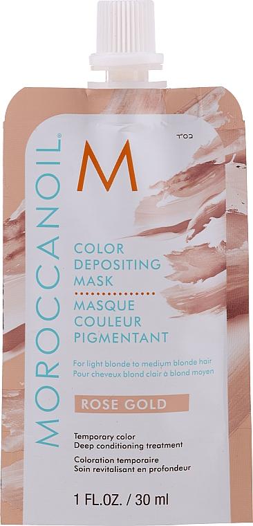 Pflegende Tönungsmaske für blondes Haar - MoroccanOil Color Depositing Mask