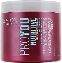 Feuchtigkeitsspendende und pflegende Maske für trockenes und dehydriertes Haar - Revlon Professional Pro You Nutritive Mask — Bild N1