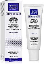 Düfte, Parfümerie und Kosmetik Regenerierendes Gesichtscreme-Gel mit Arnika gegen dunkle Flecken und Rötungen SPF 30 - MartiDerm Skin Repair Arnika Cream Gel SPF 30