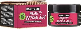 Düfte, Parfümerie und Kosmetik Feuchtigkeitsspendende und straffende Anti-Aging Gesichtscreme mit Centella Asiatica-Extrakt, Avocadoöl und Acmella-Extrakt - Beauty Jar Beauty Before Age Youth Preserve Face Cream