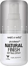 Düfte, Parfümerie und Kosmetik Make-up Fixierspray - Wet N Wild Photofocus Natural Finish Setting Spray