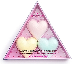 Düfte, Parfümerie und Kosmetik Badeset - I Heart Revolution Pastel Heart Fizzer Kit (Badebombe 40gx3)