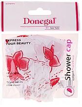 Düfte, Parfümerie und Kosmetik Duschhaube 9298 weiß-rote Blüten - Donegal