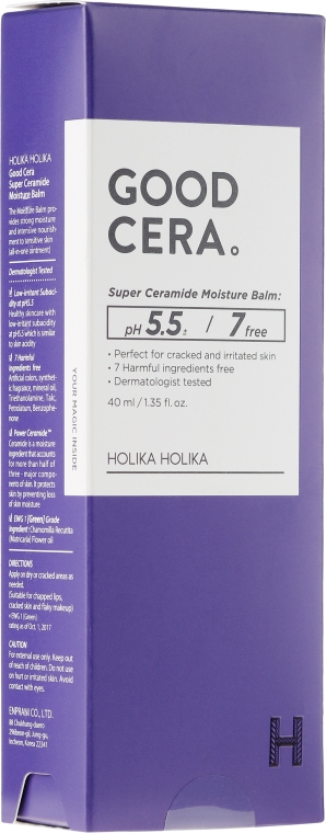 Feuchtigkeitsspendender Gesichtsbalsam für irritierte Haut - Holika Holika Good Cera Super Ceramide Moisture Balm