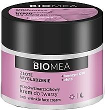 Düfte, Parfümerie und Kosmetik Anti-Falten Gesichtscreme mit Coenzym Q10 und Gold - Farmona Biomea Anti-wrinkle Face Cream