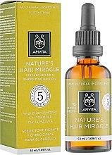 Düfte, Parfümerie und Kosmetik Stärkendes und energetisierendes Haaröl - Apivita Nature's Hair Miracle