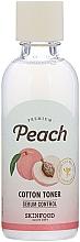 Düfte, Parfümerie und Kosmetik Talkpulver-Tonikum mit Pfirsich - Skinfood Premium Peach Cotton Toner