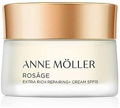 Düfte, Parfümerie und Kosmetik Extra reichhaltige regenerierende Anti-Aging Gesichtscreme SPF 15 - Anne Moller Rosage Crema Extra Rica Spf15