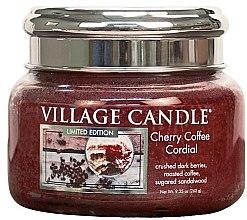 Düfte, Parfümerie und Kosmetik Duftkerze Cherry Coffee Cordial - Village Candle Cherry Coffee Cordial Glass Jar