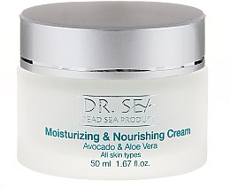 Düfte, Parfümerie und Kosmetik Feuchtigkeitsspendende und pflegende Gesichtscreme mit Avocado und Aloe Vera - Dr. Sea Moisturizing and Nourishing Cream