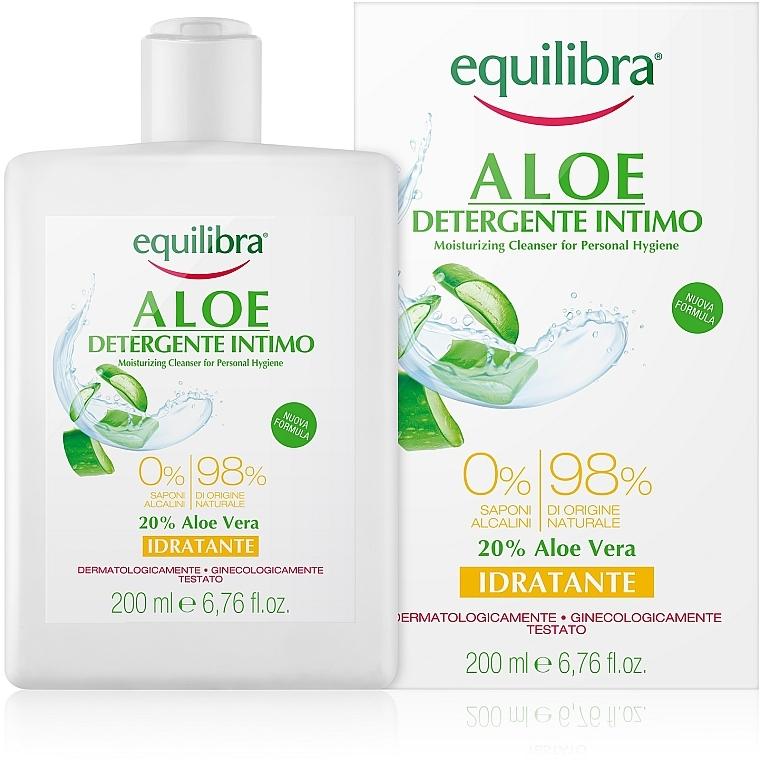 Feuchtigkeitsspendendes Gel für die Intimhygiene mit Aloe Vera - Equilibra Aloe Moisturizing Cleanser For Personal Hygiene