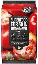 Düfte, Parfümerie und Kosmetik Revitalisierende Gesichtsreinigungstücher mit Tomaten - Superfood For Skin Fresh Food Facial Cleansing Wipes