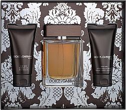 Düfte, Parfümerie und Kosmetik Dolce&Gabbana The One For Men - Duftset (Eau de Toilette 100ml + After Shave Balsam 50ml + Duschgel 50ml)