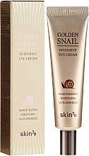 Düfte, Parfümerie und Kosmetik Feuchtigkeitsspendende und aufhellende Anti-Falten Augenkonturcreme mit Gold und Schneckenfiltrat - Skin79 Golden Snail Intensive Eye