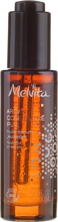 Intensiv nährendes verjüngendes Gesichtsserum-Öl mit Arganöl - Melvita Argan Concentrate Pur Youthful Oil-Serum — Bild N2