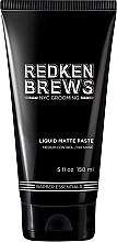 Düfte, Parfümerie und Kosmetik Modellierende Haarpaste mit Matteffekt - Redken Brews Liquid Matte Paste