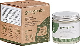 Düfte, Parfümerie und Kosmetik Natürliche Zahnpasta mit Teebaum - Georganics Tea Tree Natural Toothpaste