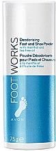 Düfte, Parfümerie und Kosmetik Fuß- und Schuhpuder mit Menthol und Teebaumöl - Avon Foot Works Deodoring Foot and Shoe Powder