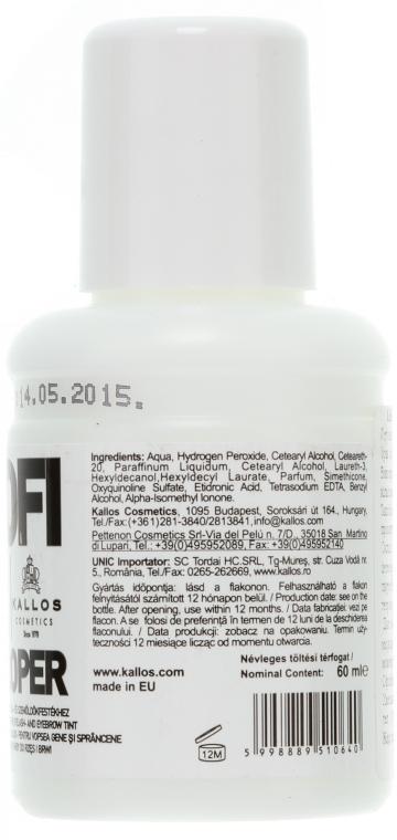 Entwicklerlotion für Augenbrauen und Wimpern 3% - Kallos Cosmetics Profi Pil Developer 3% — Bild N2