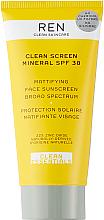 Düfte, Parfümerie und Kosmetik Mattierende Sonnenschutzcreme für das Gesicht SPF 30 - Ren Clean Screen Mattifying Face Sunscreen SPF 30