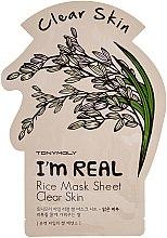 Düfte, Parfümerie und Kosmetik Tuchmaske mit Reis - Tony Moly I'm Real Rice Mask Sheet