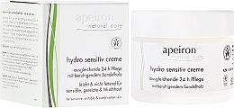 Düfte, Parfümerie und Kosmetik Ausgleichende Gesichtscreme mit beruhigendem Sandelholz für sensible, gereizte und Mischhaut - Apeiron Hydro Sensitiv Cream 24h