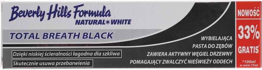 Aufhellende Zahnpasta mit Aktivkohle Total Breath Black - Beverly Hills Formula Natural White Total Breath Black