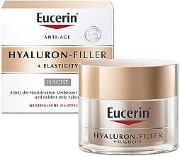 Düfte, Parfümerie und Kosmetik Anti-Aging Nachtcreme für das Gesicht mit Hyaluronsäure - Eucerin Hyaluron-Filler + Elasticity Night Cream