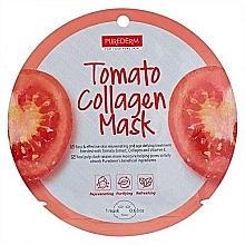Düfte, Parfümerie und Kosmetik Verjüngende Tuchmaske für das Gesicht mit Tomatenextrakt - Purederm Tomato Collagen Mask