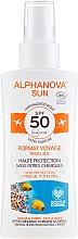 Düfte, Parfümerie und Kosmetik Sonnenschutzspray für Körper und Gesicht SPF 50 - Alphanova Sun Bio SPF50 Spray Voyage