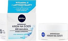 Düfte, Parfümerie und Kosmetik Erfrischende und feuchtigkeitsspendende Tagescreme mit Vitamin E und Antioxidantien für normale und Mischhaut - Nivea 24H Moisture Care Complex