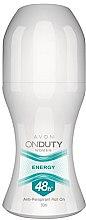 "Düfte, Parfümerie und Kosmetik Anti-perspirant Roll-On Deodorant für Frauen ""Energy "" - Avon On Duty Energy 48H Anti-persrirant"