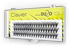Düfte, Parfümerie und Kosmetik Künstliche Wimpernbüschel für doppeltes Volumen 9 mm - Clavier DU2O Double Volume