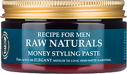 Düfte, Parfümerie und Kosmetik Haarstyling-Paste - Recipe For Men RAW Naturals Money Styling Paste