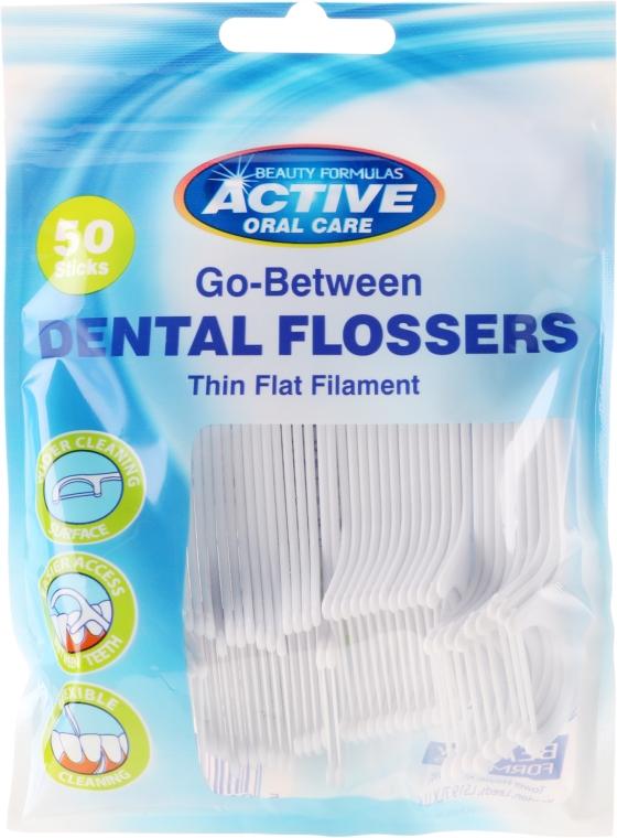 Zahnseide-Sticks 50 St. - Beauty Formulas Active Oral Care Dental Flossers