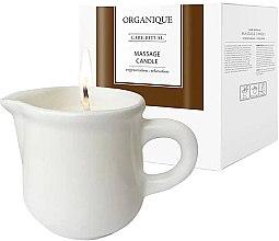 Düfte, Parfümerie und Kosmetik Massagekerze in dekorativem weißen Keramiktiegel Guarana - Organique Spa Massage Candle Guarana (mit Griff)