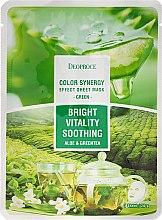 Düfte, Parfümerie und Kosmetik Antioxidative und beruhigende Tuchmaske mit Aloe- und Grünteeextrakt - Deoproce Color Synergy Effect Sheet Mask Green