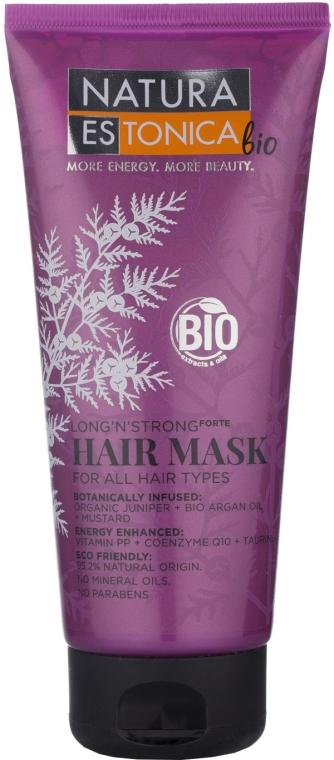 Haarmaske mit Bio-Wacholder, Arganöl und Senf - Natura Estonica Long'n'Strong Hair Mask