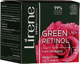 Düfte, Parfümerie und Kosmetik Tagescreme für Gesicht mit Rosenwasser und Hanföl - Lirene Green Retinol Lifting Day Cream 50+
