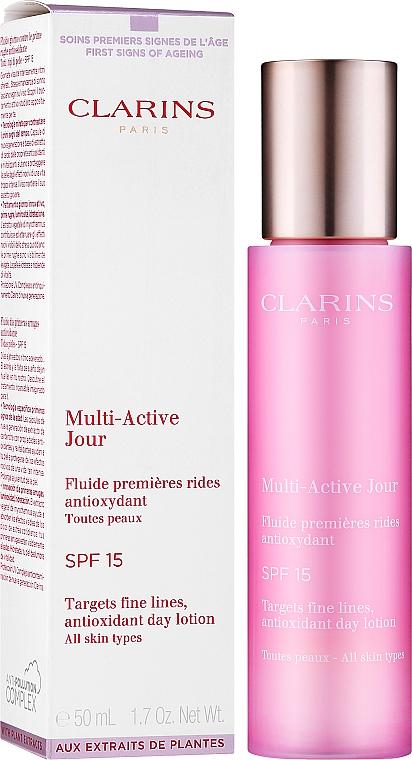 Antioxidative Tageslotion für alle Hauttypen - Clarins Multi-Active Antioxidant SPF15 Day Lotion — Bild N2