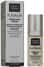 Düfte, Parfümerie und Kosmetik Feuchtigkeitsspendendes, straffendes und regenerierendes Anti-Aging Gesichtsserum für reife Haut - MartiDerm Platinum Krono-Age Serum