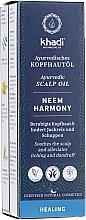 Düfte, Parfümerie und Kosmetik Ayurvedisches und beruhigendes Kopfhautöl gegen Juckreiz und Schuppen - Khadi Ayurvedic Scalp Oil Neem Harmony