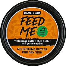 "Düfte, Parfümerie und Kosmetik Pflegende Körperbutter ""Feed Me"" mit Kakaobutter, Sheabutter und Traubenkernöl für trockene Haut - Beauty Jar Nourishing Butter For Dry Skin"