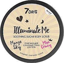 Düfte, Parfümerie und Kosmetik Schimmerndes aufweichendes und glättendes Zuckerpeeling für den Körper mit Mangoduft - 7 Days Illuminate Me Miss Crazy Soothing Sugar Body Scrub