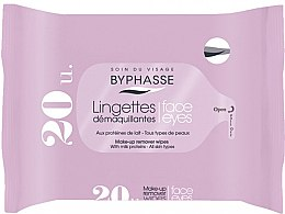 Düfte, Parfümerie und Kosmetik Make-up-Entfernungstücher mit Milchproteinen für alle Hauttypen 20 St. - Byphasse Make-up Remover Milk Proteins All Skin Wipes