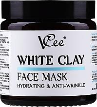 Düfte, Parfümerie und Kosmetik Feuchtigkeitsspendende Gesichtsmaske mit weißem Ton - VCee White Clay Face Mask Hidrating&Anti-Wrinkle